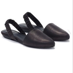 Eileen Fisher Shoes - Eileen Fisher black leather Tula slingback…